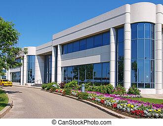 byggnad, entranceway, industriområde