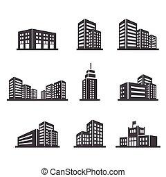byggnad, ikon