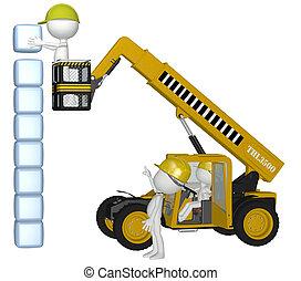 byggnad, kuben, folk, utrustning, konstruktion, stack