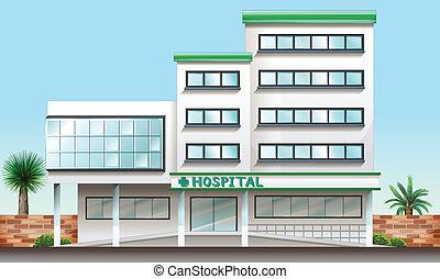 byggnad, sjukhus