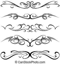 calligraphic, tatuera