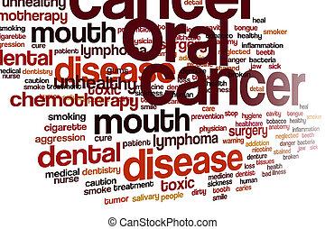 cancer, muntlig, moln, ord
