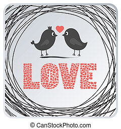 card2, älska fåglar