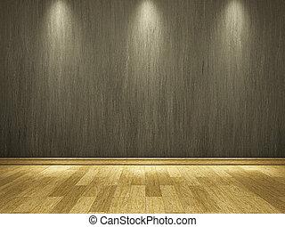 cement, vägg, golv, trä