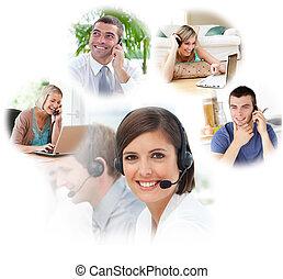 centrera, ringa, agentur, kundtjänst
