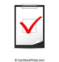 checkmark, skrivplatta