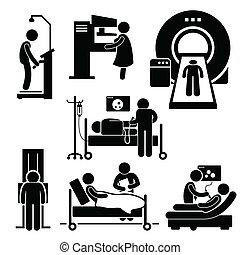 checkup, sjukhus, medicinsk, diagnos
