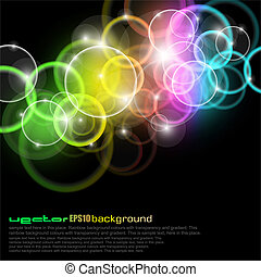 cirklarna, regnbåge färgar, glöd