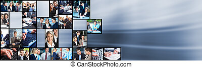 collage., folk affär, lag