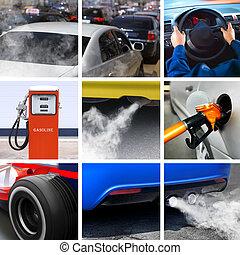 collage, industri, petroleum