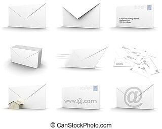 collage, kuvert