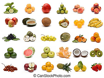 collection., frukt