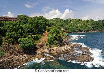 costa rica, antenn, västra, synhåll