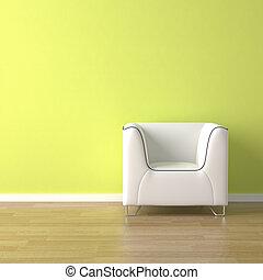couch, grön, design, inre, vit