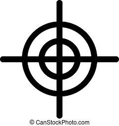 crosshair, ikon