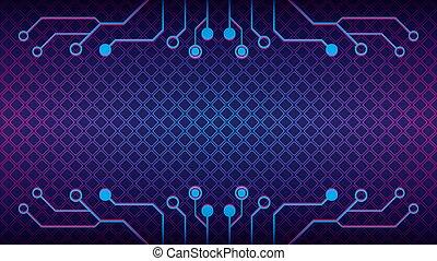 cyberpunk, färg, lutning, blå, geometrisk, vektor, template., theme., elektronisk, bakgrund, pattern., purpur, illustration., form, diamant, rosa, strömkrets, design, träd, dystopian, violett, abstrakt