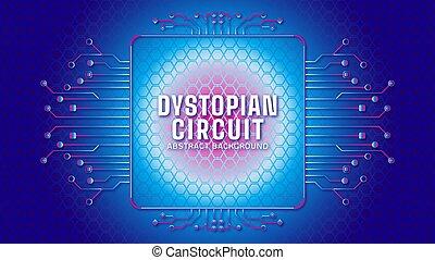 cyberpunk, färg, lutning, blåttar kvadrerar, geometrisk, vektor, template., theme., elektronisk, bakgrund, pattern., ram, illustration., form, strömkrets, design, träd, dystopian, abstrakt, mörk, hexagonal
