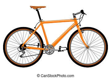 cykel, illustration.