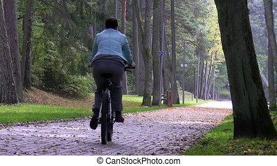 cykel, kvinna