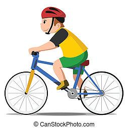 cykel, unge