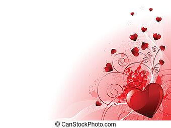 dag, valentinkort, bakgrund