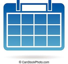 dagordning, år, months, kalender, 12