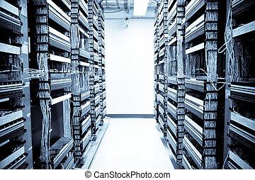 data, nätverk, centrera