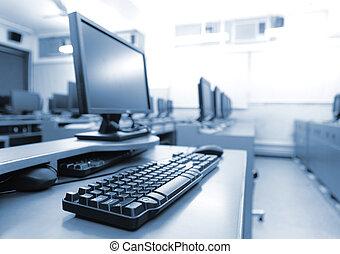 datorer, workplace, rum