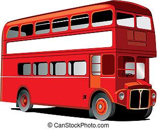decker, dubbel, london, buss