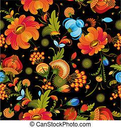 dekorativ, blomma, seamless, bakgrund