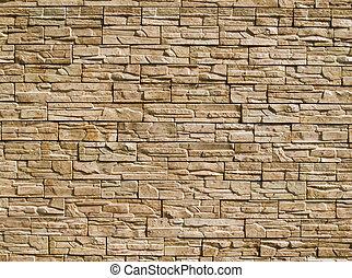 dekorativ, stenar, vägg