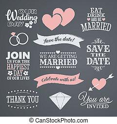 design, chalkboard, bröllop