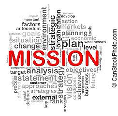 design, cirkulär, ord, mission, märken