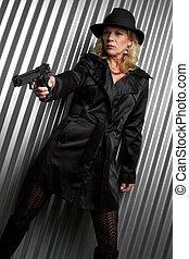 detektiv, kvinna