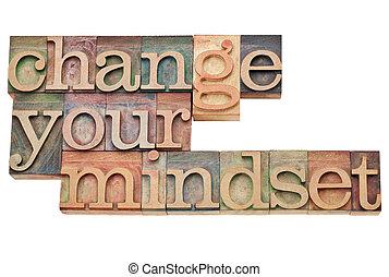 din, ändring, mindset