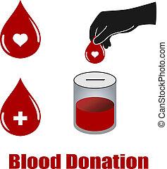 donation, vectors, blod