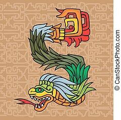 drake, mayan, illustration