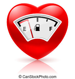 drivmedel, hjärta, indikator