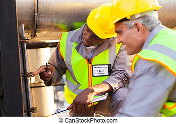 drivmedel, rörledning, ingenjörstrupper, arbete, mekanisk
