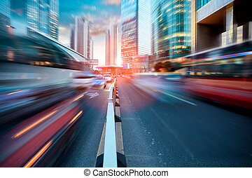 dynamisk, gata, nymodig, stad