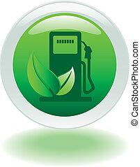 eco, pump, gas, knapp
