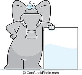 elefant, böjelse