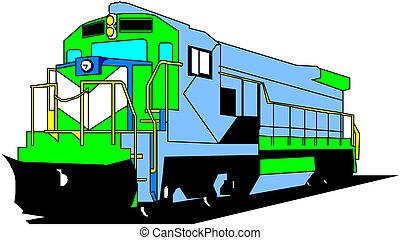 elektrisk, lokomotiv