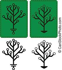 elektronisk, träd