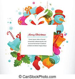 elementara, bakgrund, jul gåva, jul