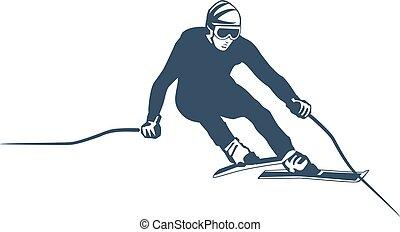 elements., klubba, set., etiketter, tillflykt, vektor, skida, logo, snowboarding, symboler, skida, märken, ytterlighet