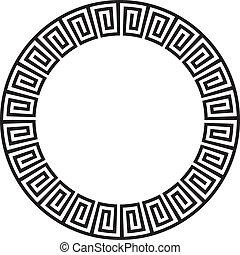 eller, cirkulär, aztekisk, goemetric, forntida