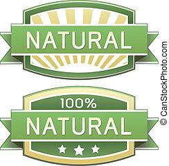 eller, mat, naturlig, etikett, produkt