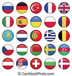 europén sjunker, runda, ikonen