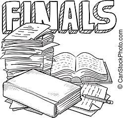 examen, final, schema